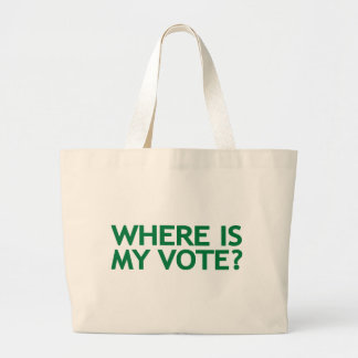 where is my vote (Iran Election) Canvas Bags