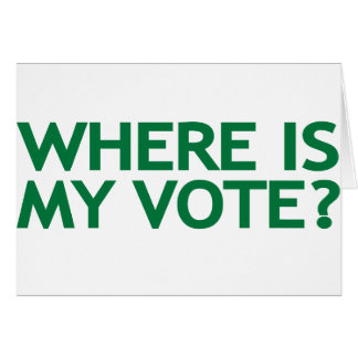 where is my vote (Iran Election) Card