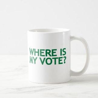 where is my vote (Iran Election) Coffee Mug