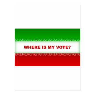 Where is my vote? postcard