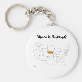 Where Is Nebraska? Keychain