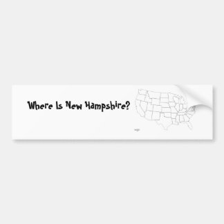 Where Is New Hampshire? Bumper Sticker