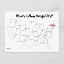 Where Is New Hampshire? Postcard
