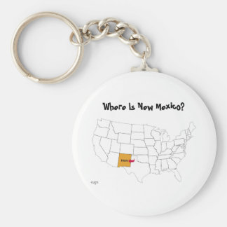 Where Is New Mexico? Basic Round Button Keychain