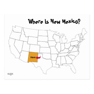 Where Is New Mexico? Postcard