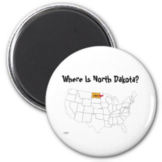 Where Is North Dakota? Refrigerator Magnets