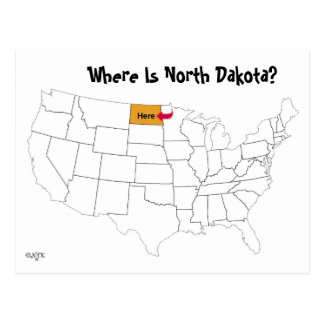 North Dakota Postcards Zazzle - Where is north dakota