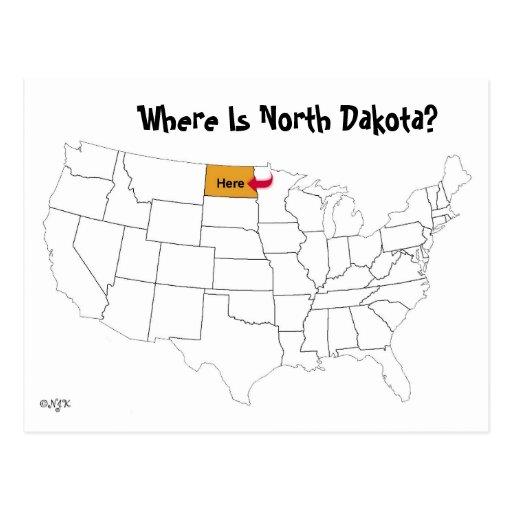 Where Is North Dakota? Postcard