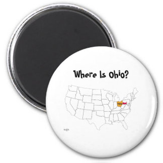 Where Is Ohio? 2 Inch Round Magnet
