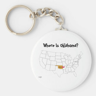 Where Is Oklahoma? Keychain