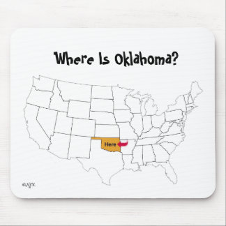 Where Is Oklahoma? Mouse Pad
