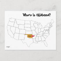 Where Is Oklahoma? Postcard