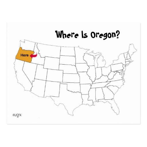 Where Is Oregon? Postcard