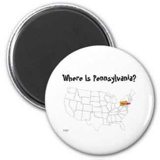 Where Is Pennsylvania? Magnets