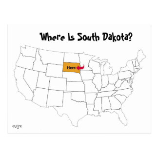 Where Is South Dakota? Postcard