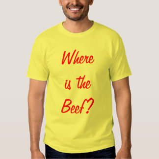 Where is the Beef? Tshirts