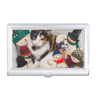 Where Is The Cat Business Card Case