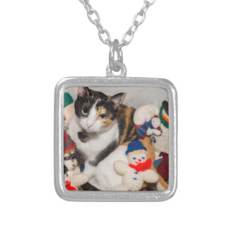 Where Is The Cat Silver Plated Necklace