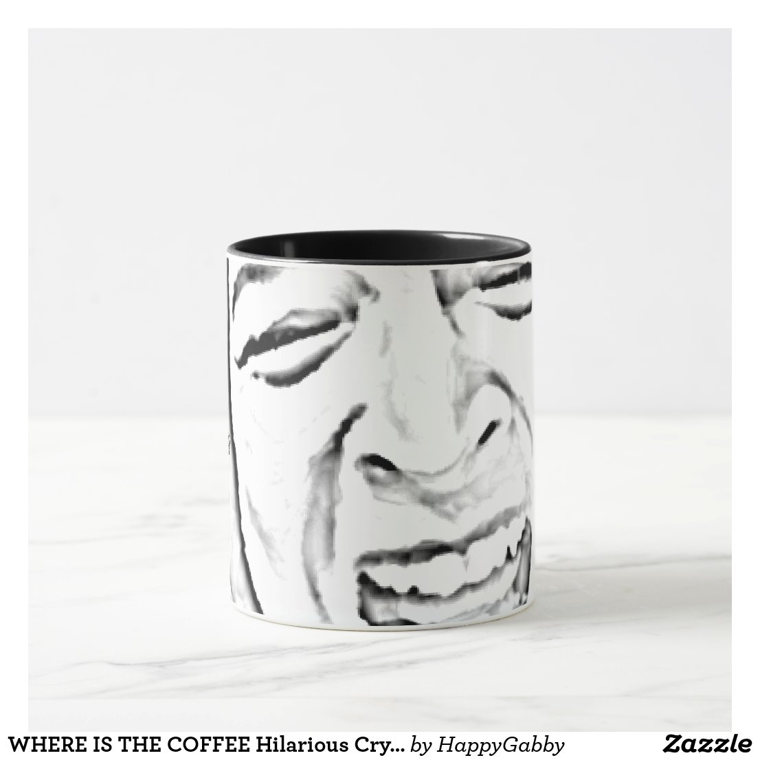 Hilarious Crying Person Face Mug