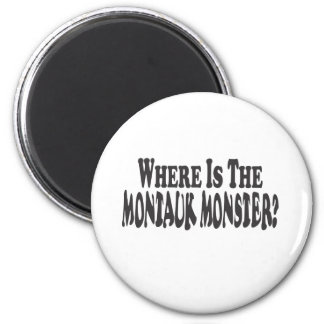 Where Is The Montauk Monster? - Two Lines Refrigerator Magnets