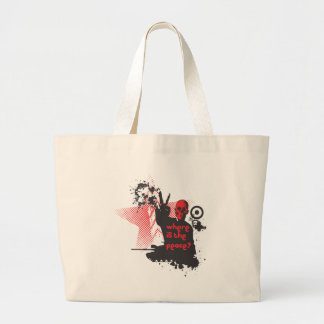 Where is the Peace? Canvas Bags