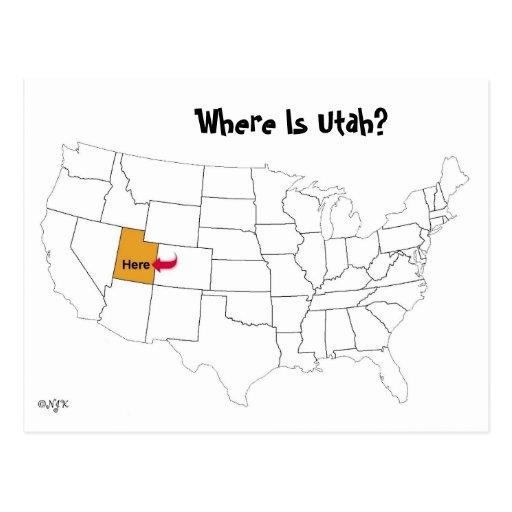 Where Is Utah? Post Card