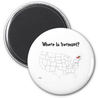 Where Is Vermont? Magnet