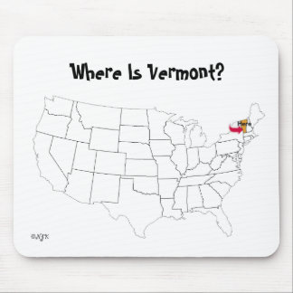 Where Is Vermont? Mouse Pad
