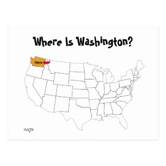 Where Is Washington? Postcard