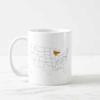 Wisconsin Map Coffee Travel Mugs Zazzle - Where is wisconsin