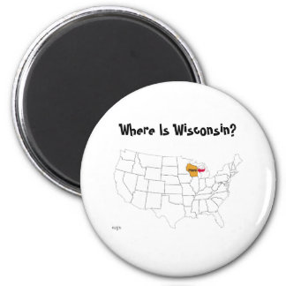 Where Is Wisconsin? Magnet