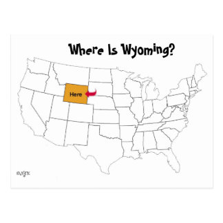 Where Is Wyoming? Postcard