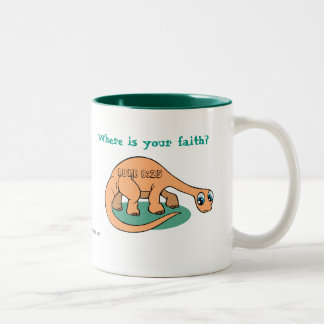 Where is your faith? Bible Quotes Two-Tone Coffee Mug