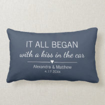 Where It All Began Romantic Valentines Day Couples Lumbar Pillow