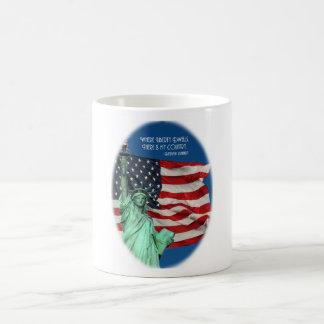 Where Liberty Dwells Classic White Coffee Mug