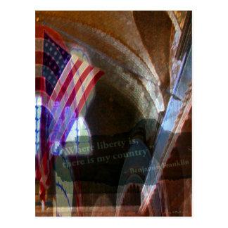 Where Liberty Is Postcard