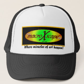 Where miracles of art hap... trucker hat
