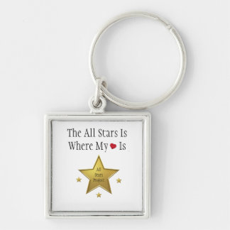Where My <3 Is Keychain