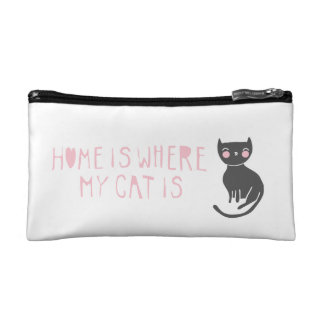 """""""Where My Cat Is"""" Cosmetic Bag"""