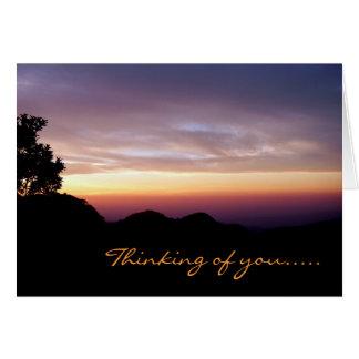 Where My Heart Belongs/Mountain Sunset Silhouette Greeting Card