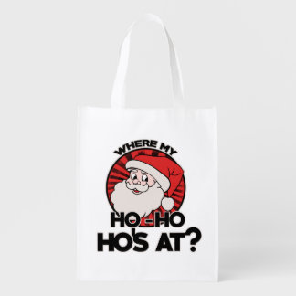 Where my ho ho ho's at grocery bag