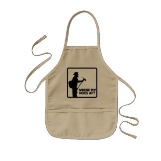 Where My Hoes At Kids' Apron