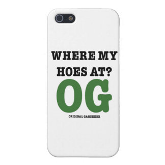 Where My Hoes At (original gardener green) iPhone SE/5/5s Cover
