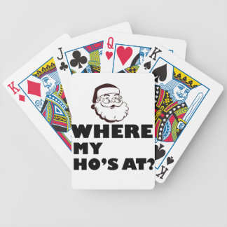 where my Ho's at Bicycle Playing Cards