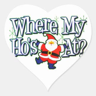 Where my Ho's At? Heart Sticker