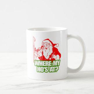 WHERE MY HOS AT -.png Coffee Mug