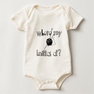 Where my Knittas at? Baby Bodysuit