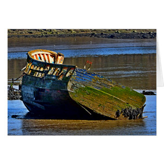 Where old boats go to retire stationery note card
