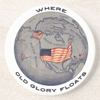 Where Old Glory Floats U.S.A. Patriotic Coasters