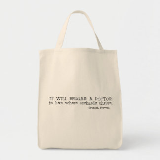 Where Orchards Thrive Grocery Tote Bag